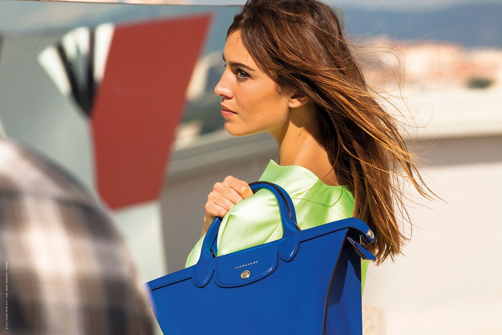 Alexa Chung for Longchamp - Le Pliage Heritage Collection 2015